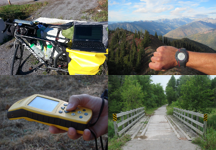 Using GPS, camera, photos, and hiking and biking, we collect field data